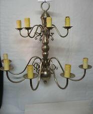 Une grande applique style Hollandais en métal blanc 9 feux H 78 cm
