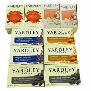 Yardley London Soaps Lavender Oatmeal Almond Charcoal Shea Pumpkin 10 Bars