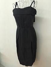 MaxMara SPORTMAX Dark Grey Business Formal Dress I42/F40/GB10/US8 , NWT $1.4K