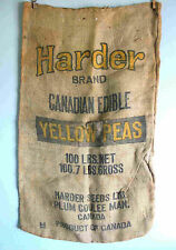 100 LB Original HARDER Yellow Peas Gunny Sack Plum Coulee Manitoba Canad FREE SH