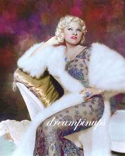 MAE WEST 1934 Hollywood Color Portrait FLORAL FANTASY