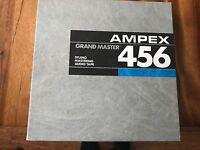 "Lot Of 3 Ampex Grand master 456 1/2"" Studio Master Audio Tape Good Used Cond"