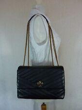 NWT Tory Burch Black Kira Chevron Convertible Shoulder Bag $528