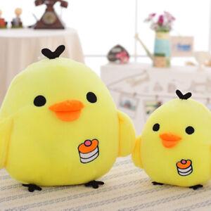 Cute Yellow Chicken Figurine Doll Plush Toy Pillow Stuffed Chick Cushion Gift AU