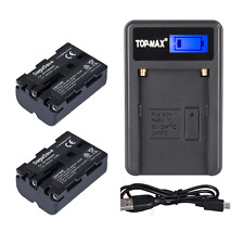 2 NP-FM500H Battery 2000mAh +USB Charger for Sony A900 A700 A350 A200 A550 A560