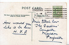 Genealogy Postcard - Family History - Low - Compton - Marldon - Paignton   Z165