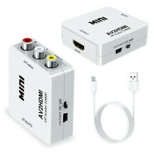 Input AV RCA to HDMI Output Video Converter Adapter 1080p Upscaler+USB Cable
