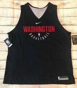 New Official Nike Washington Wizards Reversible Practice Jersey NBA Sz XXL