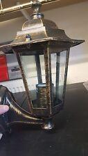 Black And & Gold Aluminium Coach Lantern Antique Black 6 Sided