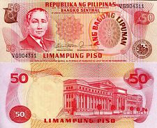 PHILIPPINES 50 Piso Banknote World Paper Money UNC Currency Pick p163c Bill Note