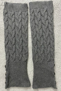 UGG Grey Cable Knit Leg Warmers One Size