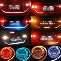 LED Strip Car Rear Trunk Tailgate Brake Turn Signal Light Flow Type Lamp 4 Color