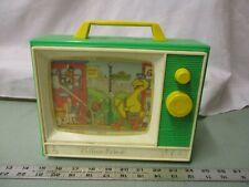Vintage Fisher Price Radio Music Box Sesame Street Tune TV People Neighborhood