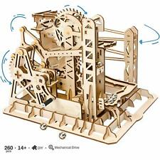 ROKR Wooden Mechanical Gear Drive Model Kits for Adults Men DIY Marble Run Toy