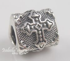 BIKER GOTHIC CROSS 925 Sterling SILVER Bead CATHEDRAL~FAITH European Charm NEW