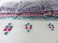JOB LOT: 500g pack Lustre Acrylic Beads with AB shading: Heart/16mm/12mm