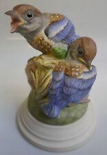 Boehm Fledgling Western Bluebirds Figurine #494
