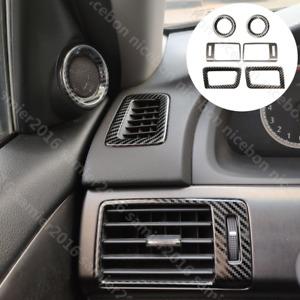 Carbon fiber color Interior Air Outlet Speaker Frame Cover For Honda Accord
