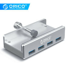 ORICO Aluminum 4 Ports USB 3.0 HUB Adapter with Screen Holder Clip Range 10-32mm