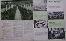 Ford Anglia 100E 1955-56 Original UK Foldout Sales Brochure Pub. No. U9097/1055