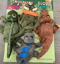 NWOT Dinosaur Dino Glove Puppets Set Of 4 T Rex Caltoy No Backing Card