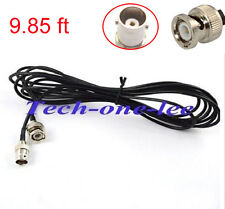 2pcs 9.85ft BNC Cable Male to BNC Female Antenna Coax Pigtail Camera CCTV RG174