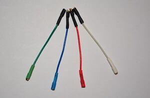 Cartridge wires, leads, Gold tabs for Technics SL120, SL110, SL1300, SL1310
