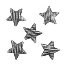 Antique Silver Star Puffed Metal Spacer Beads 17mm Pack of 5 (N60/2)
