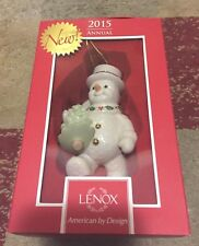 Lenox 2015 Happy Holly Days Snowman Ornament New in Box