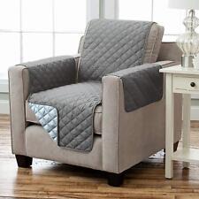 Wende Sesselschoner Sesselauflage RELAX mit Armlehnen und Taschen grau hellgrau