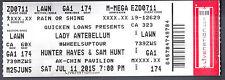 Lady Antebellum with Hunter Hayes & Sam Hunt July 11 2015 Unused Ticket AK-Chin