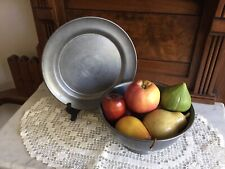 Plate and bowl pewter set - From Priscilla Presley Estate Sale