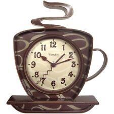 Westclox Wall Clock 3-D Coffee Time Design Quartz Accuracy Convex Glass Lens
