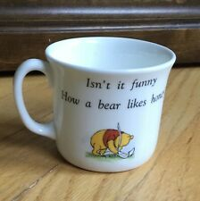 """Disney Royal Doulton Winnie The Pooh """"isn't It Funny How A Bear Likes Honey� Mug"""