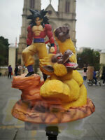 Dragon Ball Z Super Saiyan Goku Figurine Son Statue Figure Végéta Jouet 32cm PVC