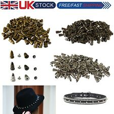 Punk spike cones spots/studs rivets 15x8mm for leather working jacket