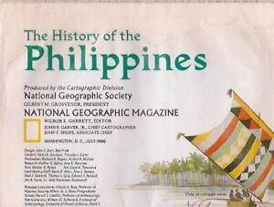 national geographic map-JULY 1986-PHILIPPINES.
