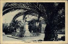 Viareggio Italien Marken 1925 Piazza Spelly Straßenpartie Büste Geschäfte Palme