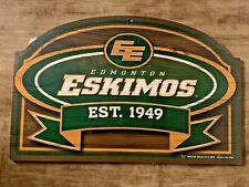 Edmonton Eskimos CFL Football Est 1949 - Indoor Sign (End of an ERA)