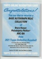 2021 Topps Definitive BRYCE HARPER Auto Jersey Relic Phillies AUTOGRAPH