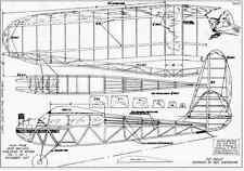 1937 EAGLET Old Timer Vintage Free flight RC AIrplane Printed Plans