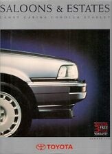 Toyota Starlet Corolla Carina Camry Summer 1990 UK Market Sales Brochure