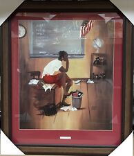 New Framed 5th Grade Substitute Annie Lee African American Art Print