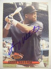 LENNY WEBSTER signed TWINS 1993 Topps Stadium Club baseball card AUTO ORIOLES