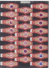 Série complète  Bague de Cigare Vitola Espagne BN115391 Signaux routiers 1