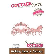 Wedding Horse Carriage Die Craft Steel Die Cutting Die Cottage Cutz CCE-471 New