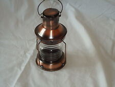 Ships Masthead Lamp Copper Lantern Round -Port star board Red Clear Garden Gift