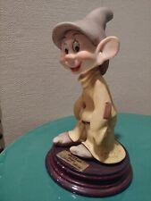 Giuseppe Armani Dwarf Dopey Statue Figurine Disney Italy collectable Amazing!