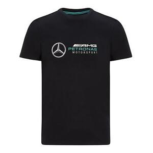 Mercedes AMG Petronas Men's Large Logo T-shirt | Black | 2021