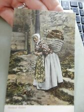 More details for postcard  p7l9  shetland knitter vgc